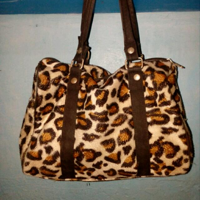 Folded And Hung Leopard Bag