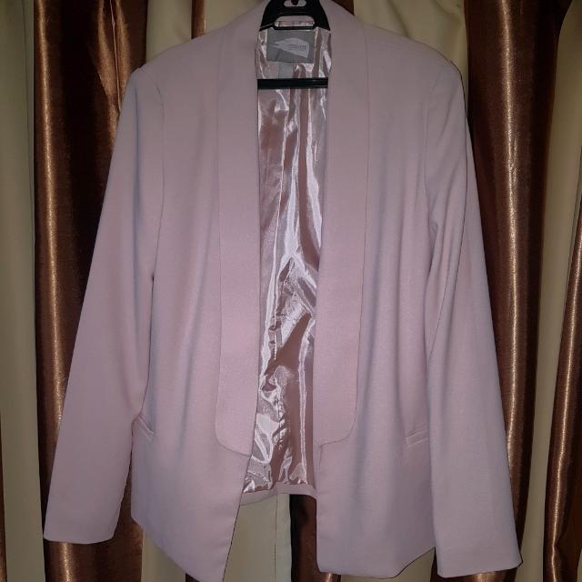Forever21 Blush Pink Blazer Plus Sized