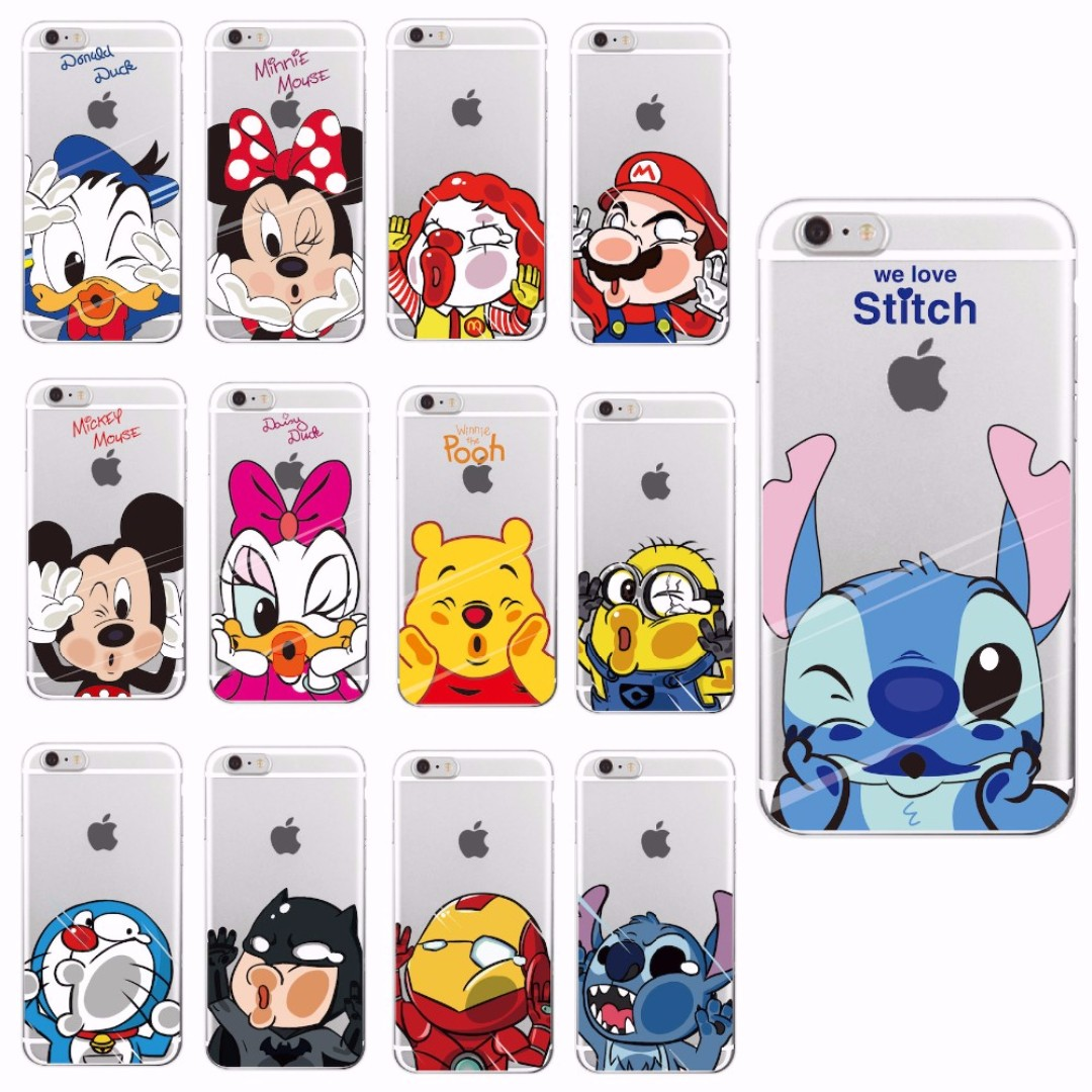 buy popular b5f75 747f4 [FREE DELIVERY] Funny Disney Minnie Mickey Cartoon Protective Phone Case  Cover for Apple iPhone and Samsung