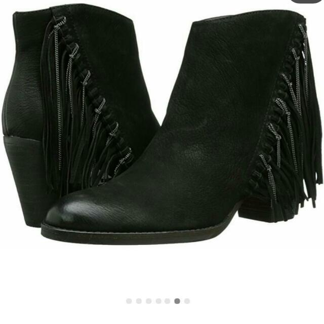 Free Shipping! Dolce Vita Juneau Fringe Suede Booties Size 39