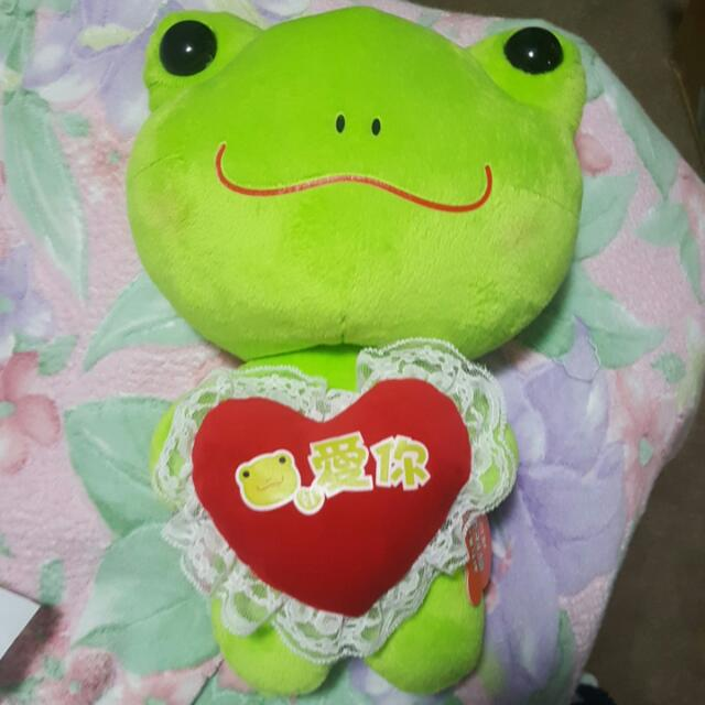 frog froggie i love you toy