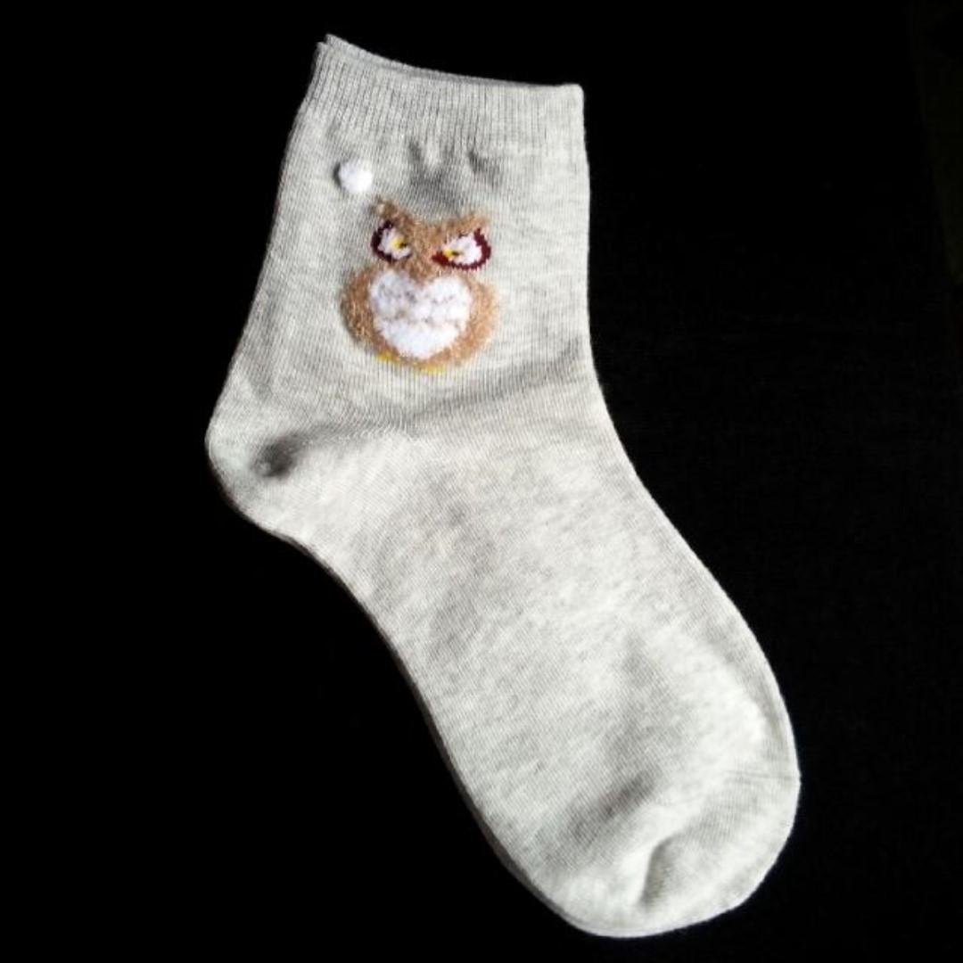 ❗SALE❗ Fuzzy Owl - Long Socks