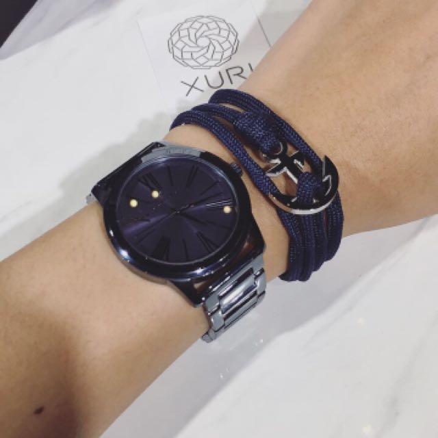 Gelang Biru (Navy blue bracelet) Threadettiquette