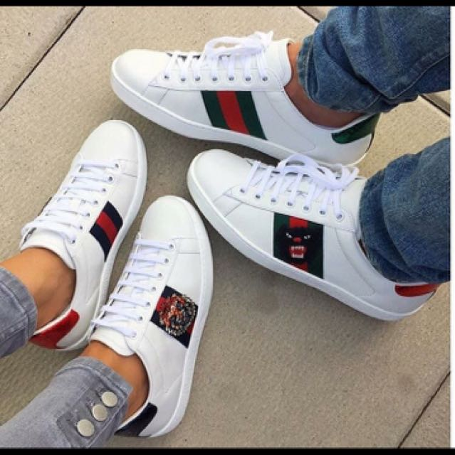 GUCCI Ace Embroidered Low Cut Sneakers Menu0026#39;s Fashion Footwear on Carousell