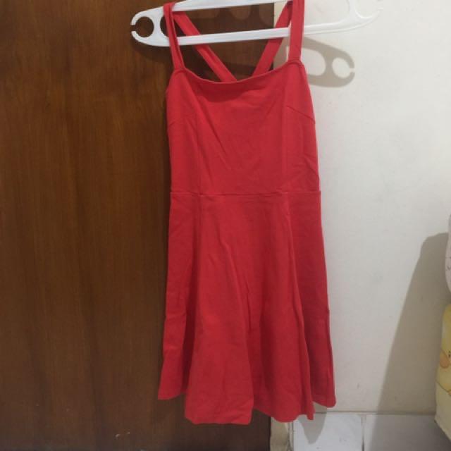 H N M Pink Red Dress