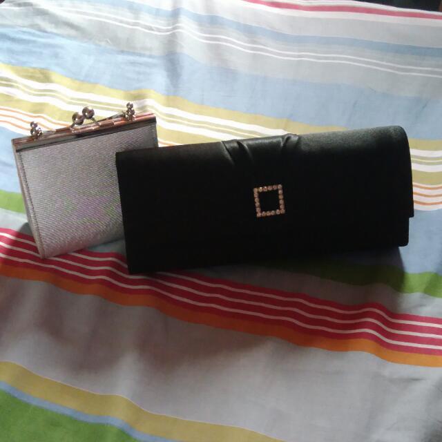 Hand Bag And Clutch Set