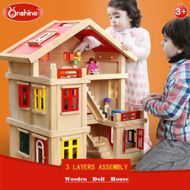 Handmade Wooden Dollhouse By Onshine Babies Kids Toys Walkers