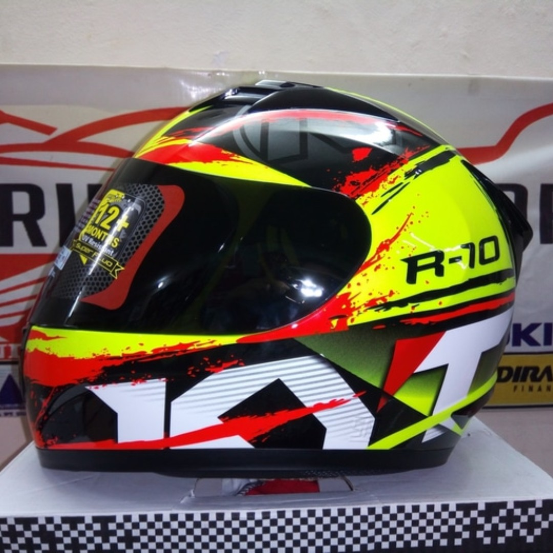 Helm KYT Fullface RC 10 Shining Yellow Fluo World Class Helmet Motor Di Carousell