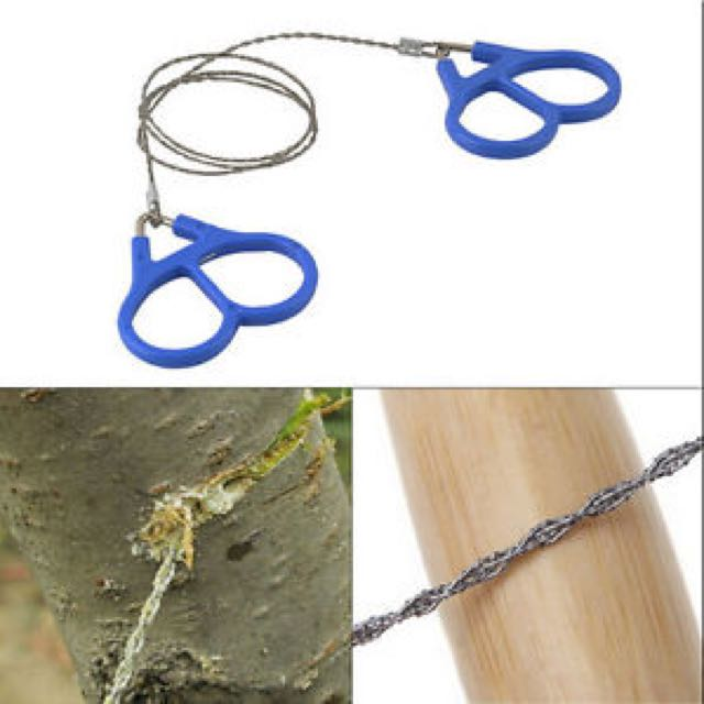 Hiking Camping Emergency Travel Survival Gear HS Stainless Steel Wire Saw