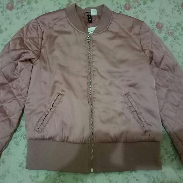 H&M Dusty Pink Bomber Jacket