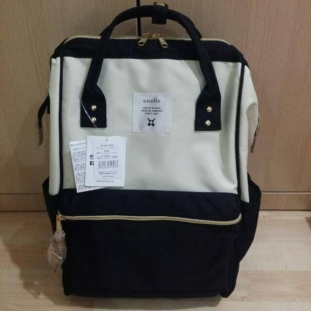 ANELLO POLYESTER BACKPACK LARGE 100/% AUTHENTIC