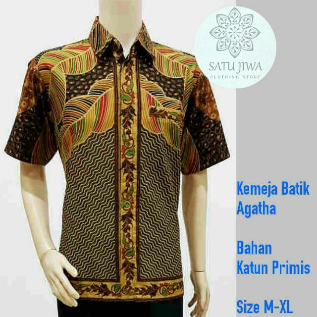 Kemeja batik Agatha seragam batik kantor kemeja batik modern seragam  keluarga sarimbit batik b2f60df446