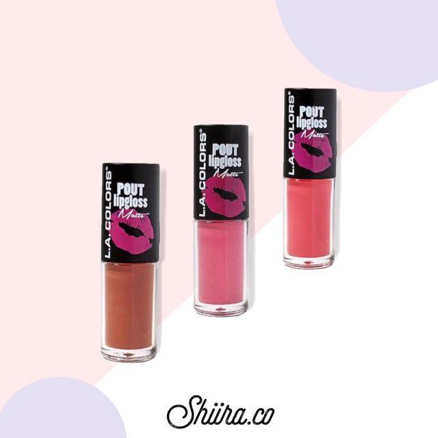 #FreePostage 3 L.A Colors Liquid Lip Gloss Matte Set