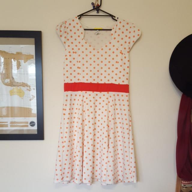 Ladies 16 Polka Dot Dress