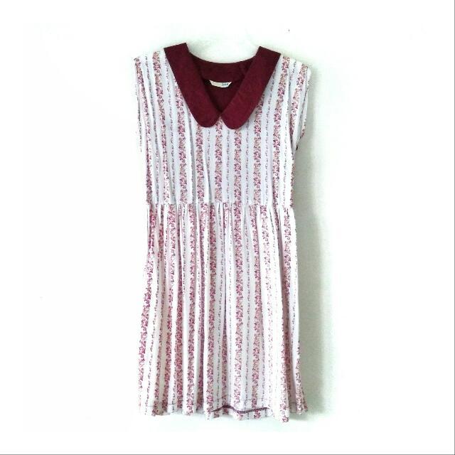 MAROON COLAR DRESS