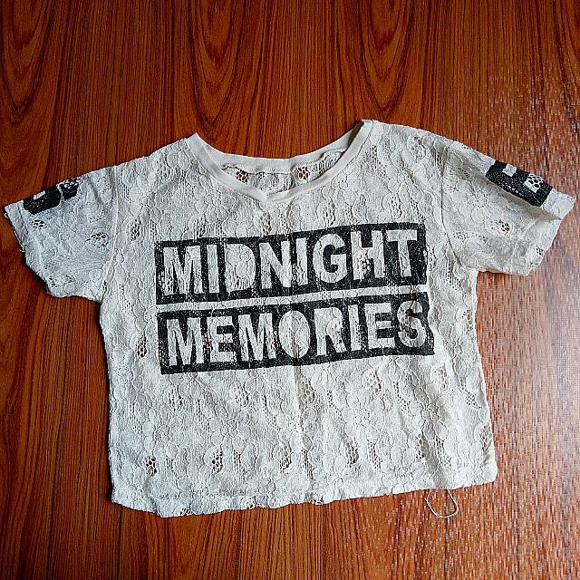 Midnight Memories Crop Top - Statement Shirt