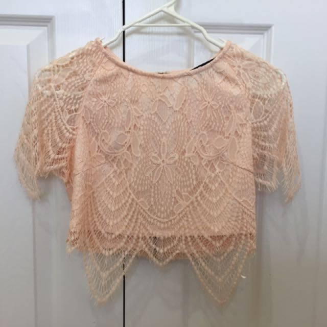 Misguided Lace Top And Skirt Set