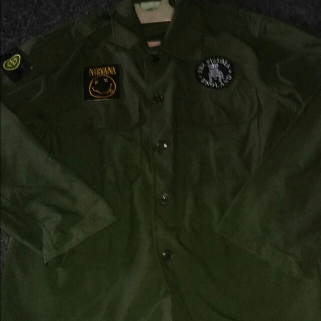 parka look army full patch