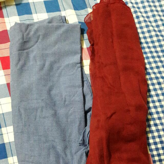 Pashmina Red Blue