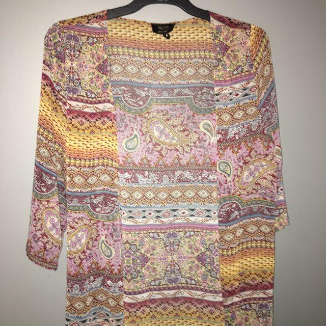 Patterned Kimono Size M