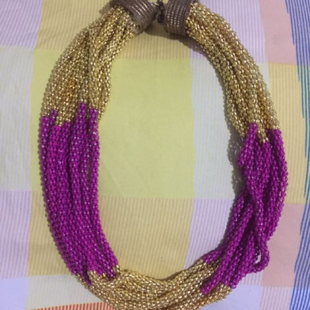 Pink & Gold Necklace