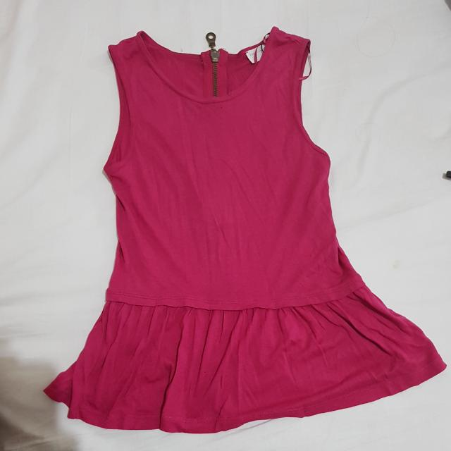 Pink Peplum Zara
