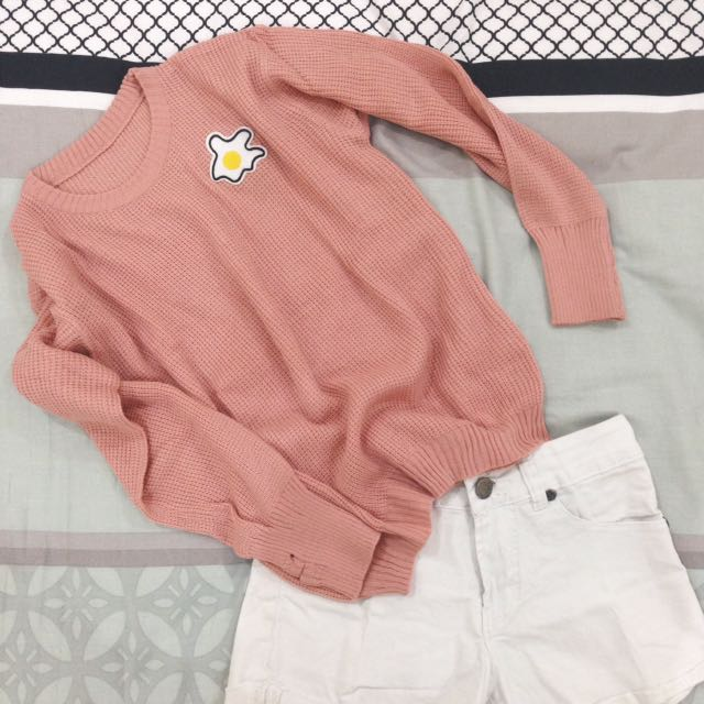 Pink Sweater Patch