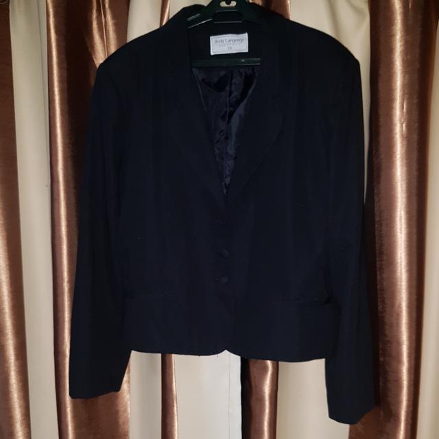 Plus Sized Black Blazer
