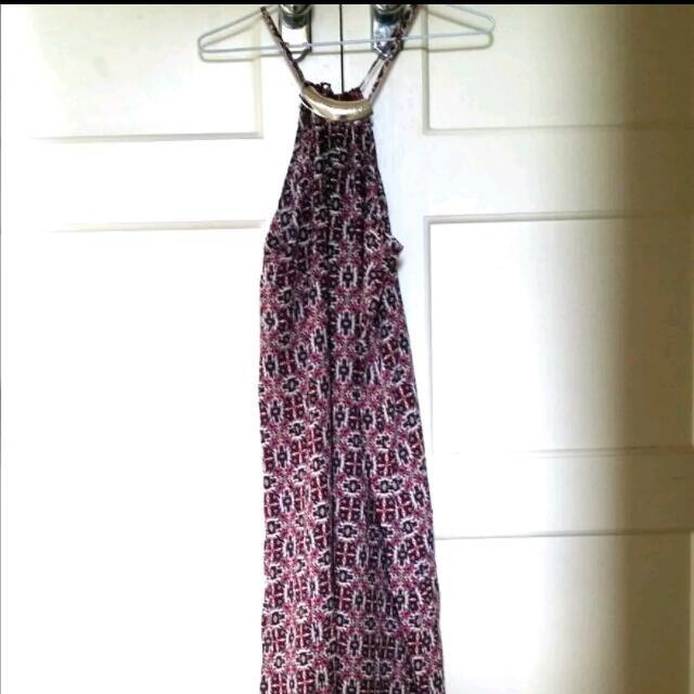 Purple Paisley Pattern Maxi Dress Size 12 BNWT