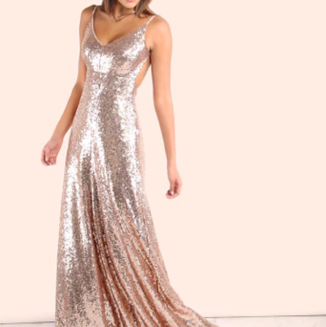 Rose Gold Sparkling Dress
