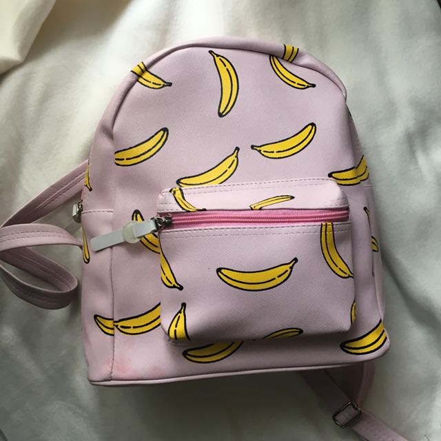 Soft Pink Banana Bag
