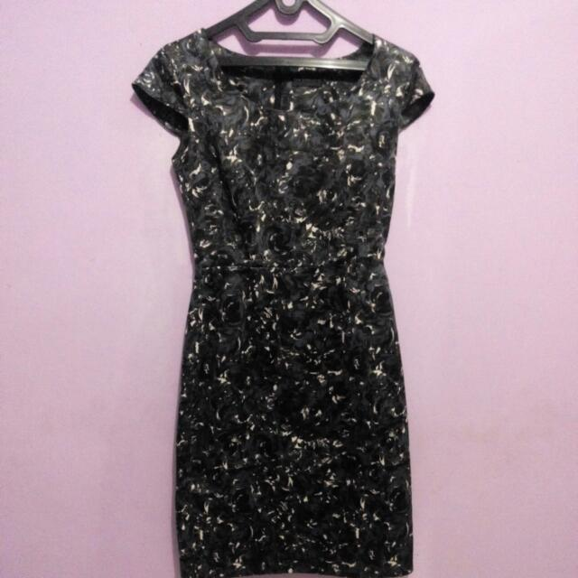 The Executive Black Flower Dress