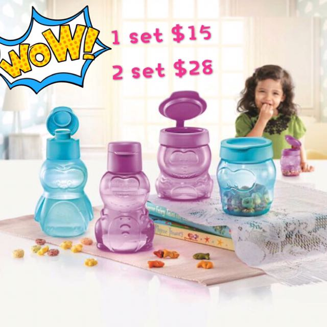 Tupperware Eco Kids Bottle Set