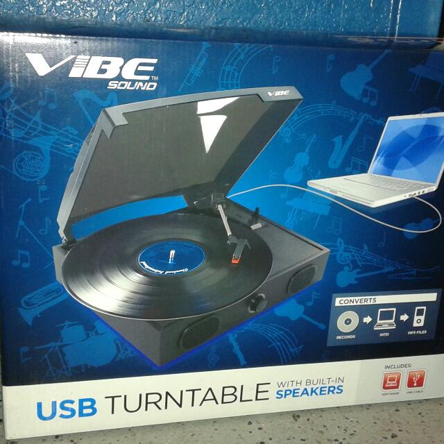 Vibe Sound USB Turntable w/built in speakers