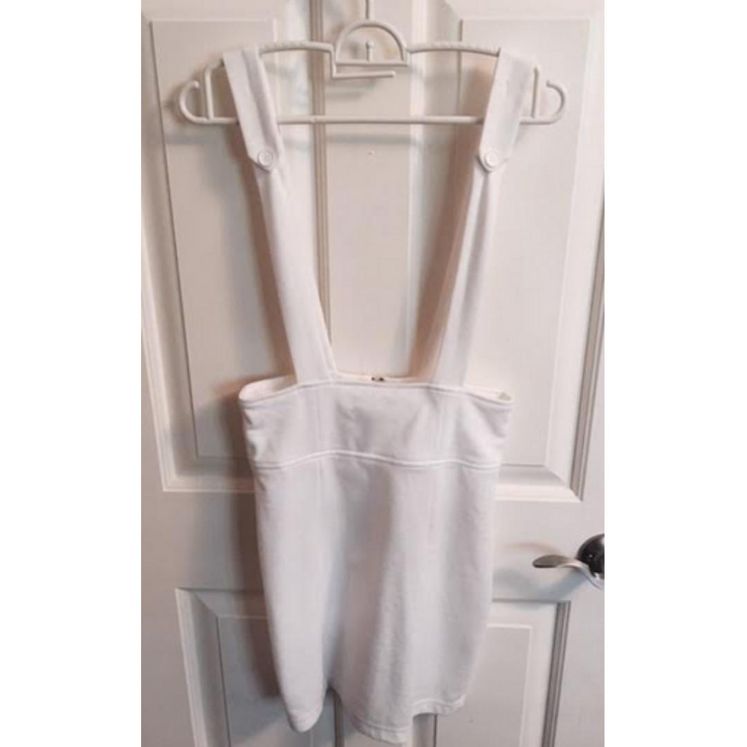 White mini skirt one-piece