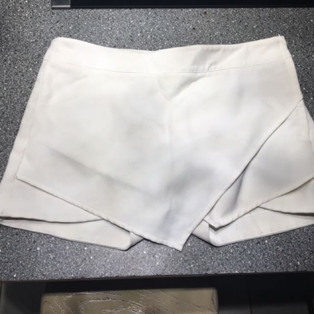 White Skirt With Shorts Under