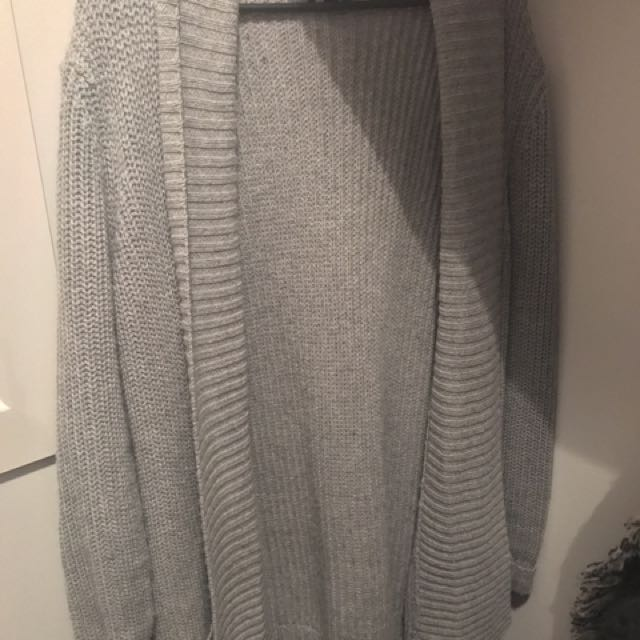 Women's/Ladies Grey Knit Cardigan