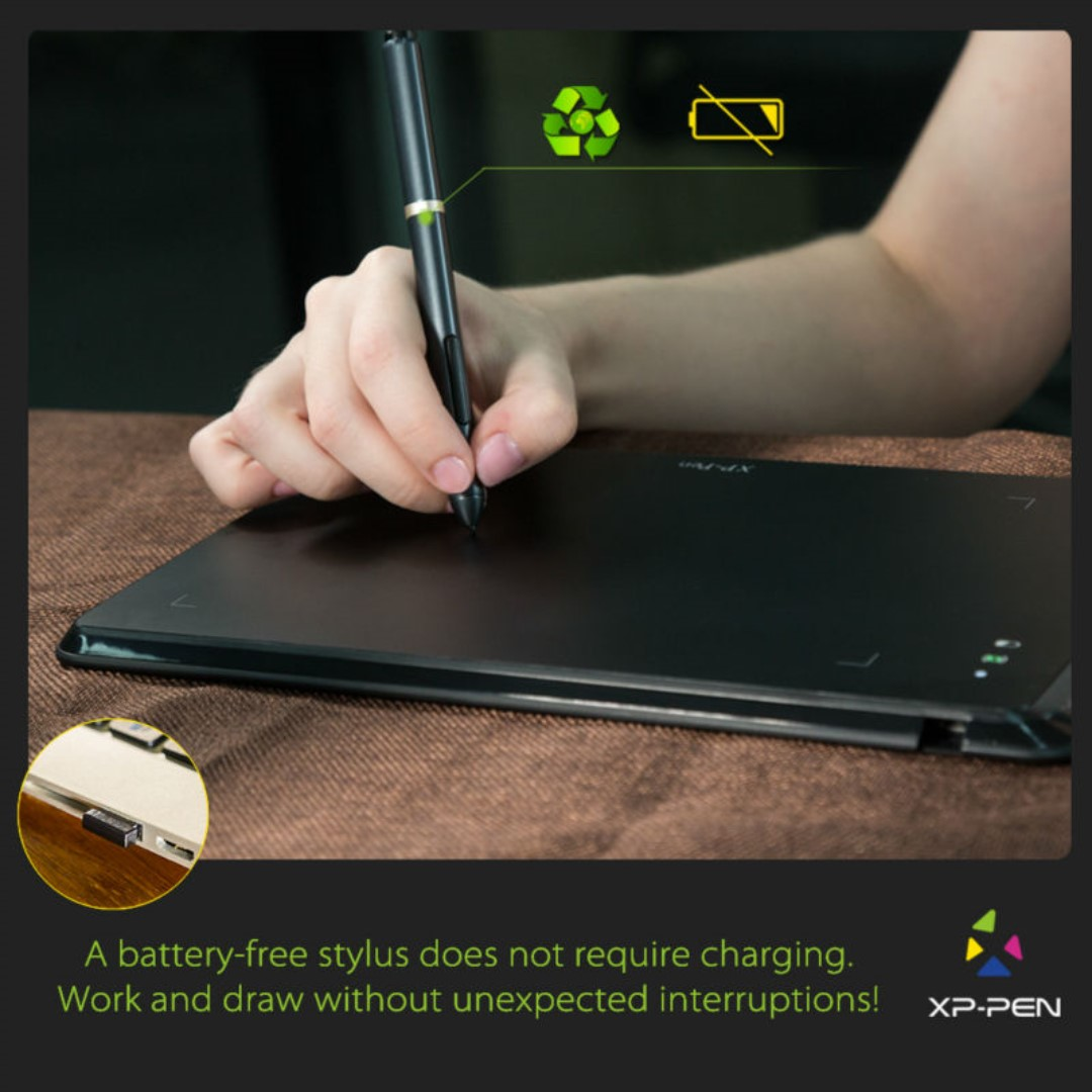 XP-Pen Star05 Wireless Graphics Drawing Tablet, Electronics