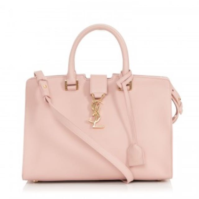 YSL small Cabas In Baby Pink