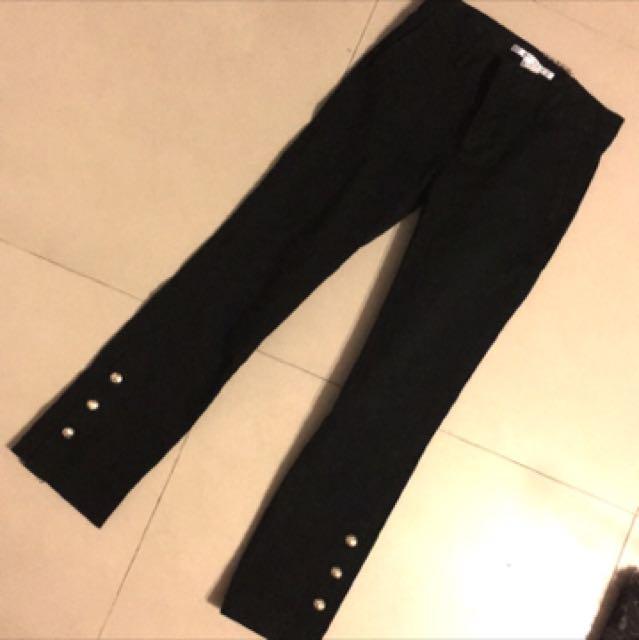 Zara 黑色 窄管褲 九分