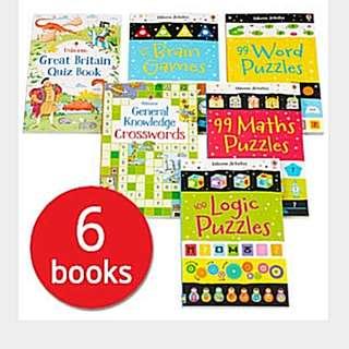 Usborne Puzzle And Quiz Collection (6 Books)