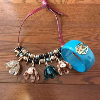 Roberto Cavalli bracelet and zara necklace