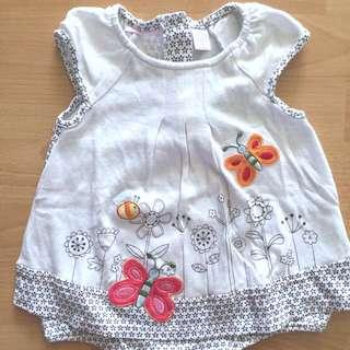 Baby Romper Butterfly Dress