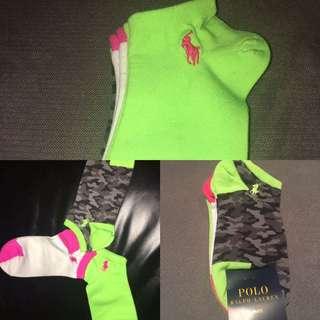 Polo Ralph Lauren Women Socks. 3 Pairs, Multi Color. Auth:New