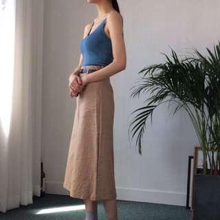 Hong葒細肩帶壓紋針織背心
