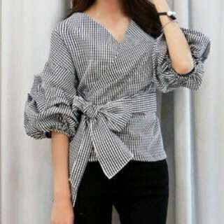 Checkered Fashionable Blouse