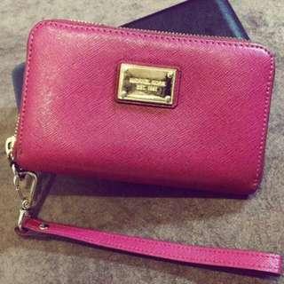 Michael Kors Mk紫紅色皮夾