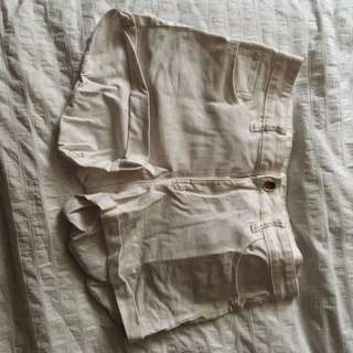 White Shorts H&M