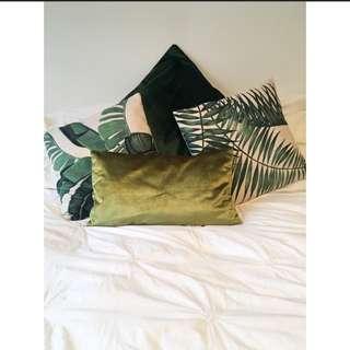 Velvet Green Cushions X 2