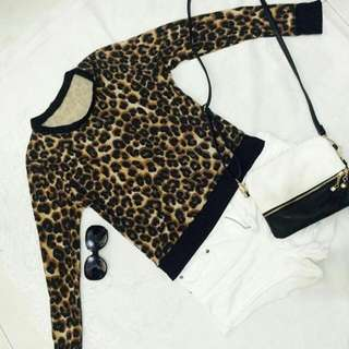 Animal Print Top / Medium